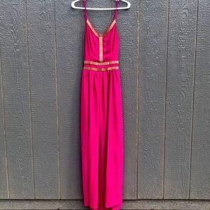 Soieblu purple long dress size small NWT